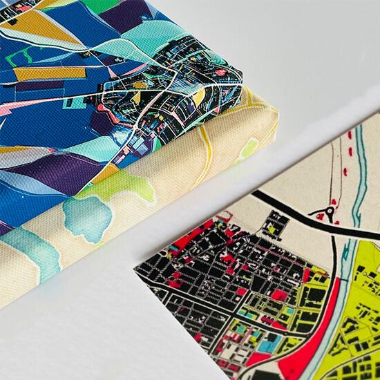 Hochwertige Materialien für unsere Stadtkarten