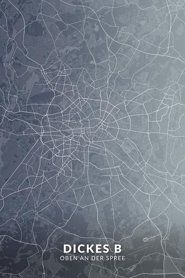 Stadtplan Berlin - Dickes B - Oben an der Spreel