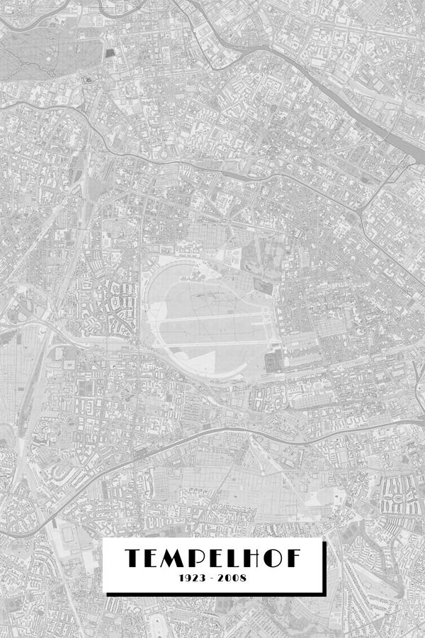 Stadtplan Berlin - Tempelhof 1923 bis 2008