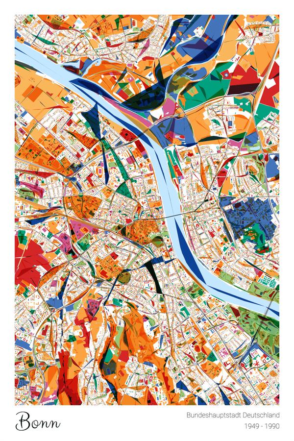 Stadtplan Bonn Bundeshauptstadt