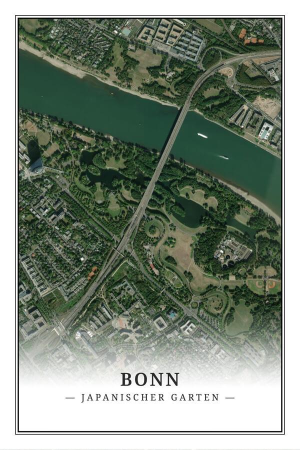 Stadtplan Bonn Japanischer garten Satellit