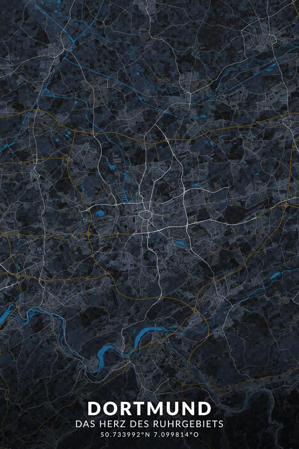 Stadtplan Dortmund Herz des Ruhrgebiets