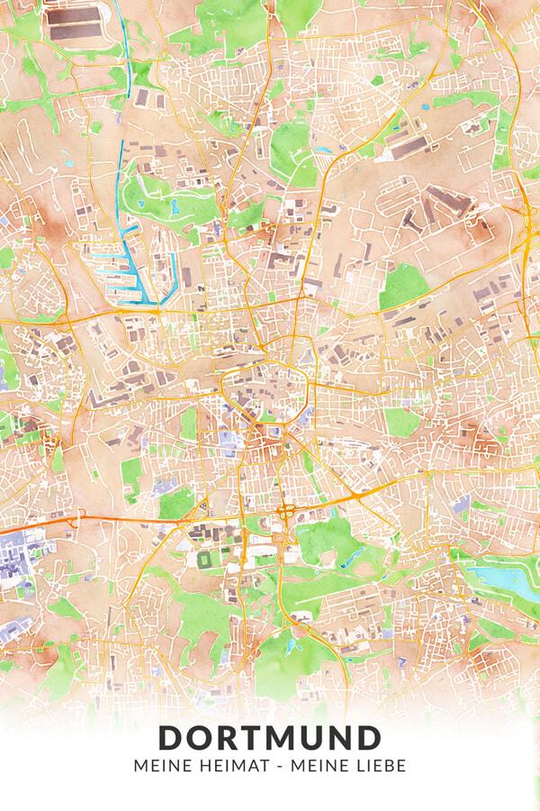 Stadtplan Dortmund Meine Heimat Meine Liebe