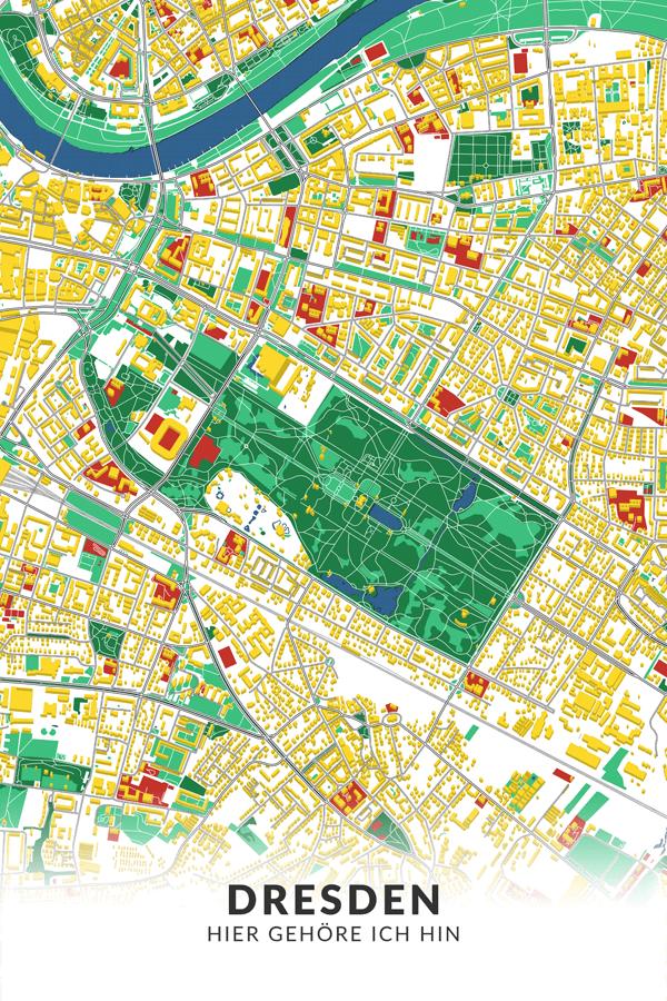 Stadtplan Dresden Lichtenstein Popart