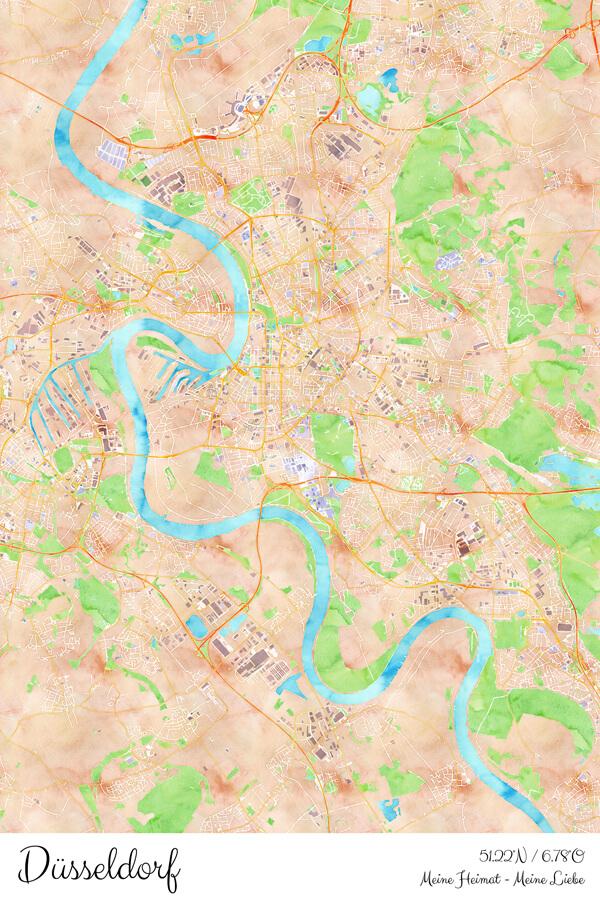 Stadtplan Düsseldorf Meine Heimat Meine Liebe