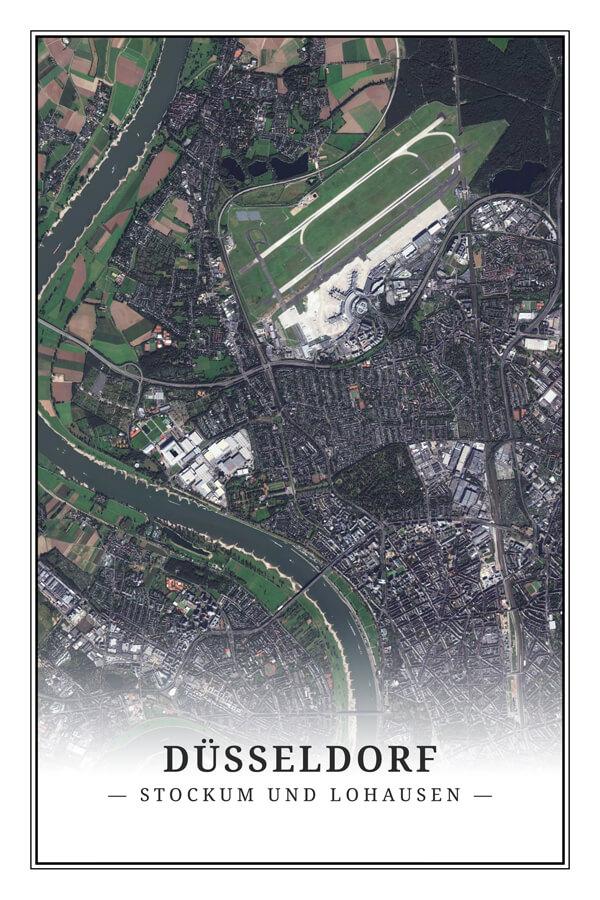 Stadtplan Düsseldorf Stockum Lohausen