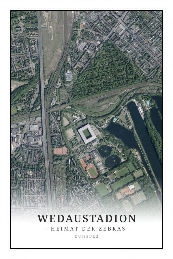 Stadtplan Duisburg Wedaustadion
