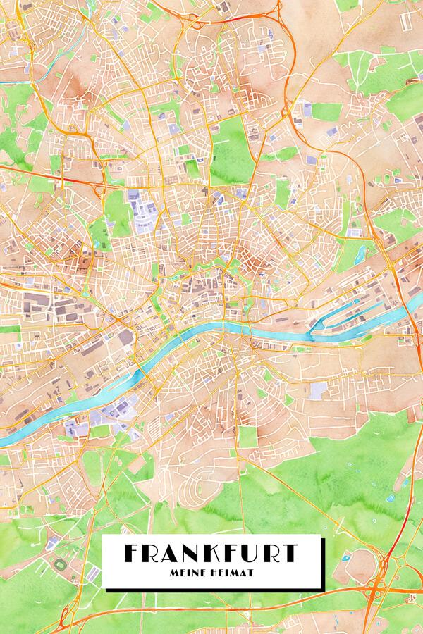 Stadtplan Frankfurt am Main Meine Heimat