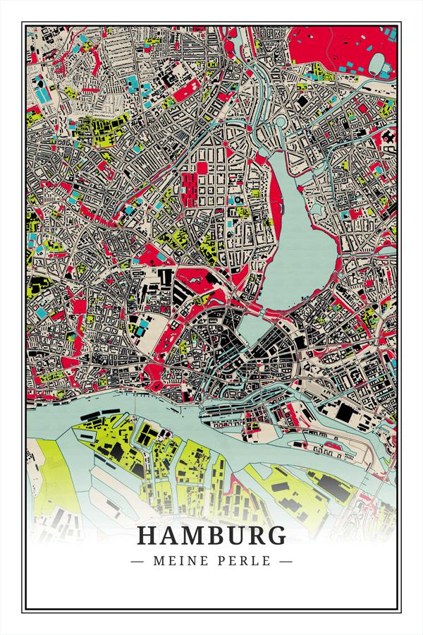 Stadtplan Hamburg Meine Perle