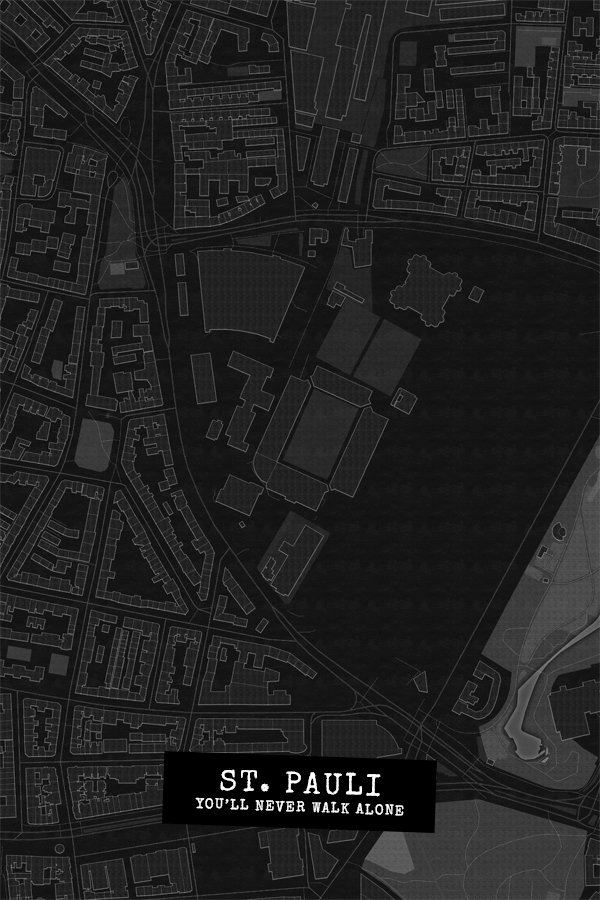 Stadtplan St. Pauli - You'll never walk alone