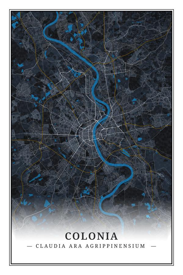 Stadtplan Köln - Colonia Claudia Ara Agrippinensium