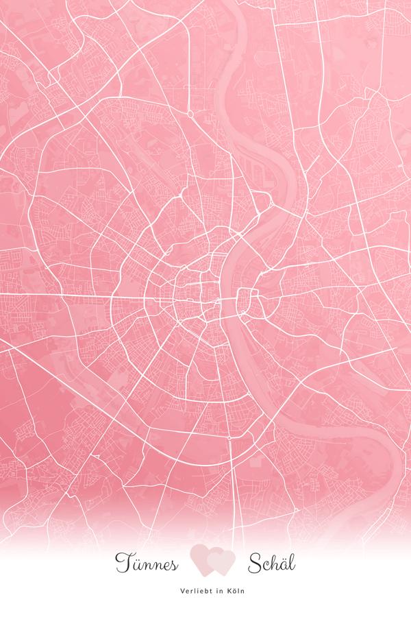 Stadtplan Köln - Tünnes und Schäl