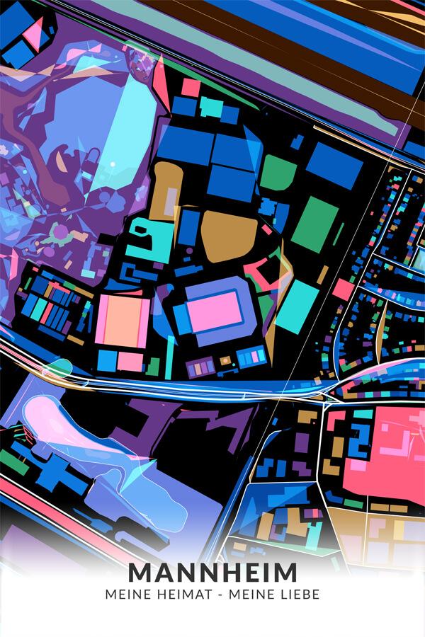 Stadtplan Mannheim Meine Heimat Meine Liebe