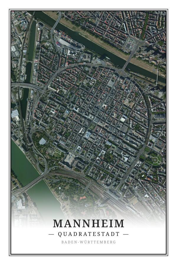 Stadtplan Mannheim Quadratenstadt Satellitenbild