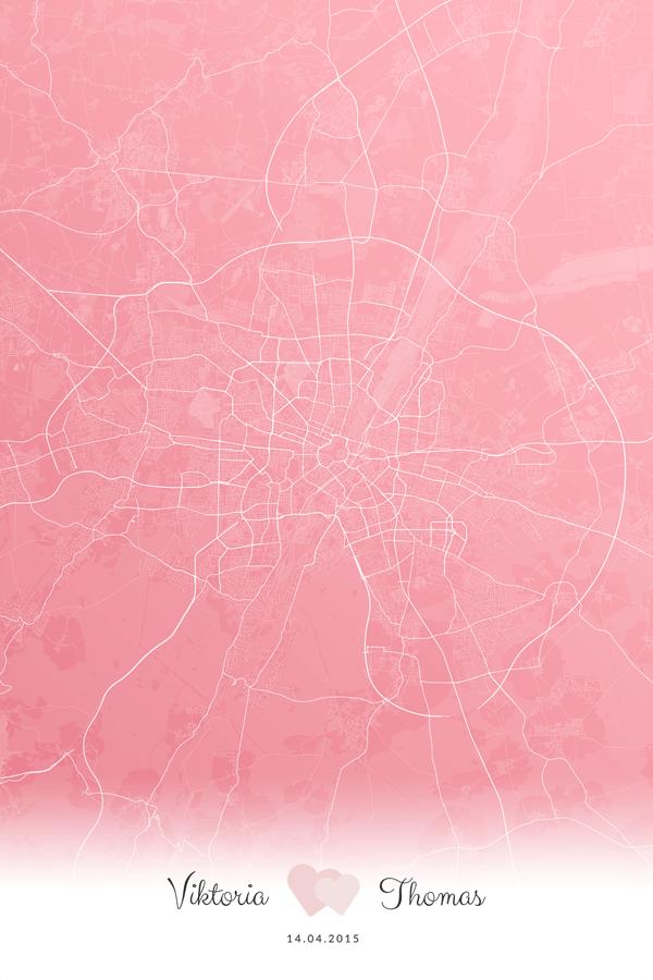 Stadtplan München Liebe Hochzeit Erinnerung