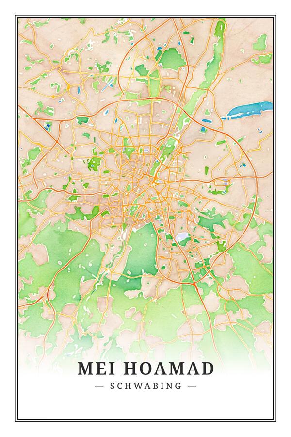 Stadtplan Schwabing Mei Hoamad