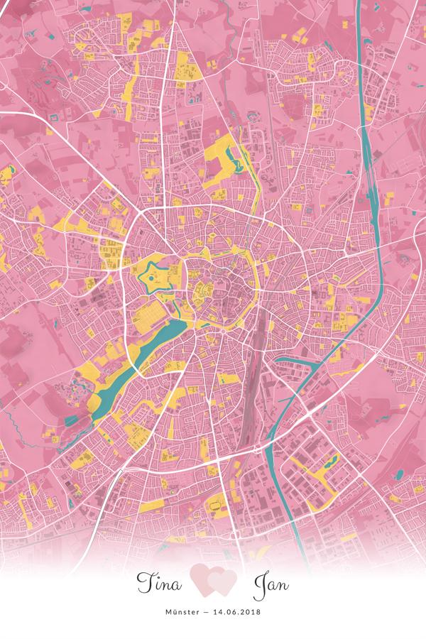 Stadtplan Münster - Unsere Hochzeit