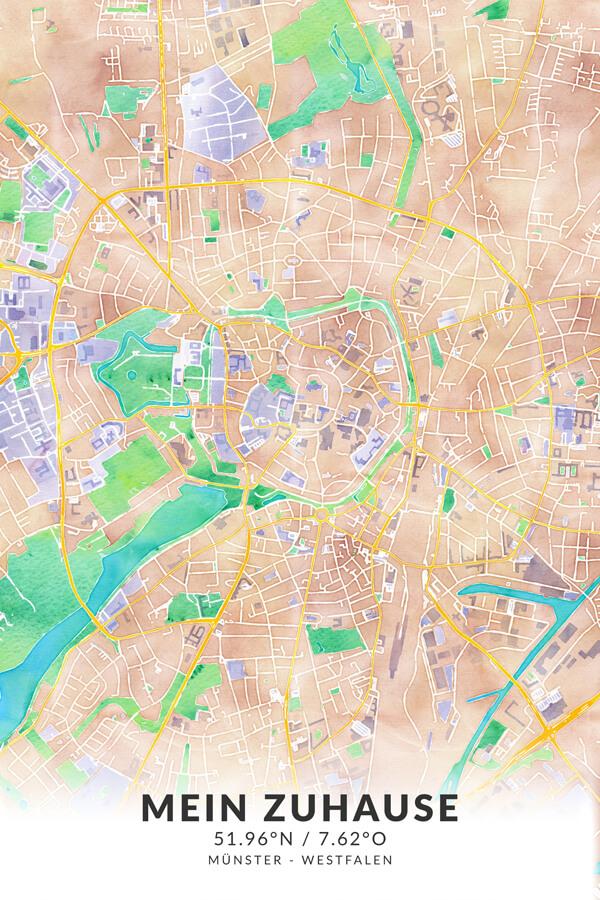 Stadtplan Münster - Mein Zuhause