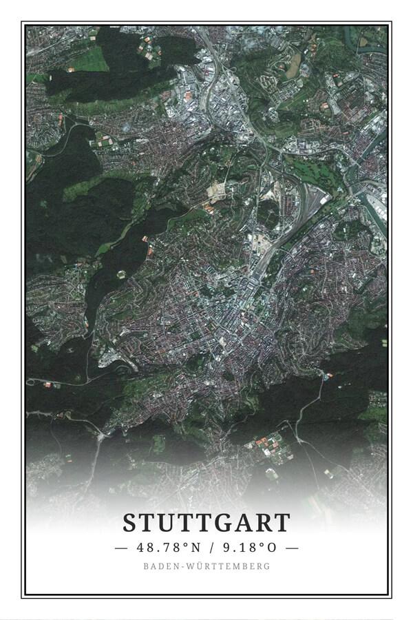 Stadtplan Stuttgart Satellit