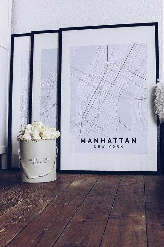Stadplan New York Manhatten Elegant