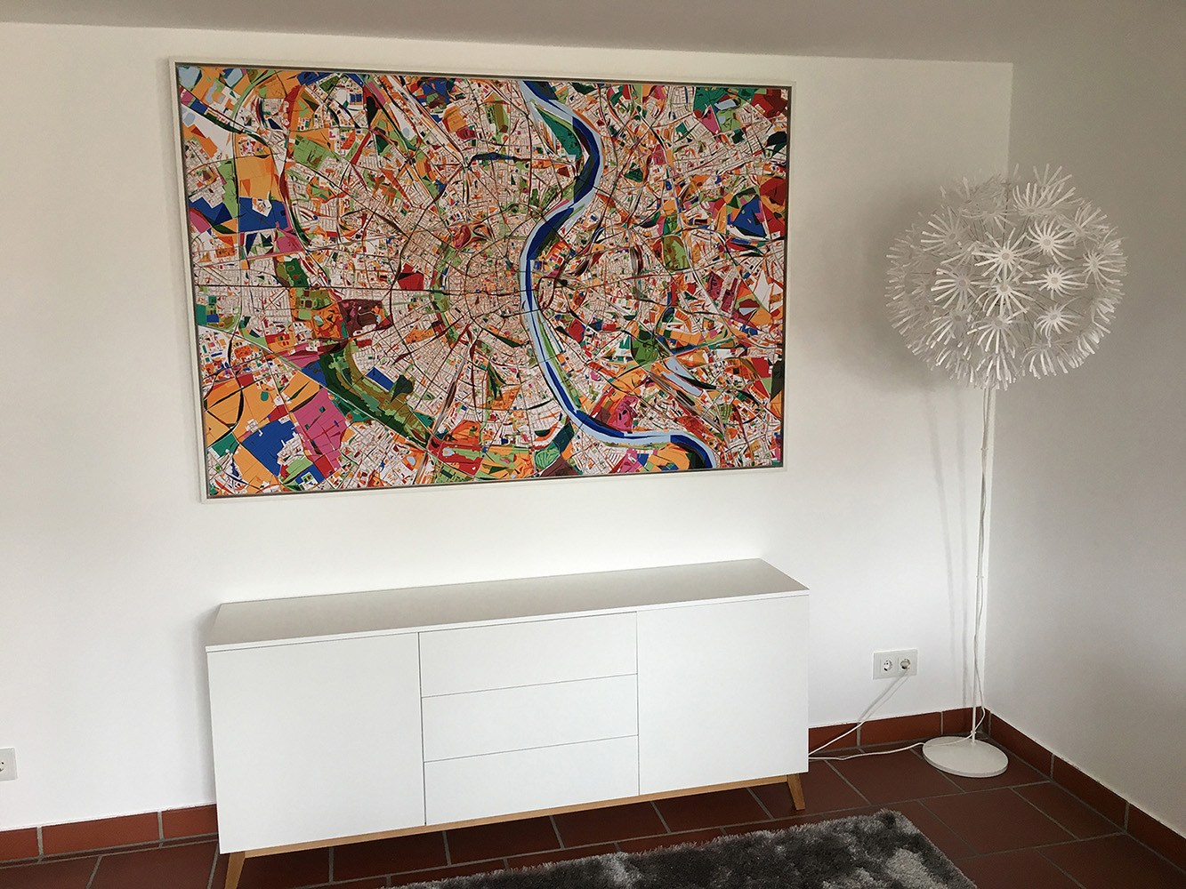 Stadtplan Köln Leinwand Wandgemälde