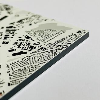 Detailansicht Alu-Dibond im Stil Schwarzplan