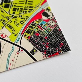 Detailansicht Stadtplanposter im Stil Popart