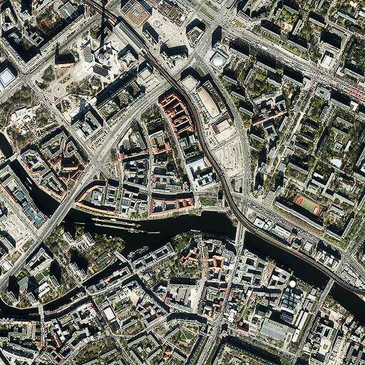 Stadtplan Stil Satellit