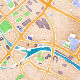 Stadtplan Stil Wasserfarbe