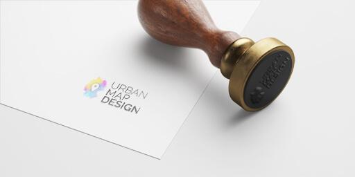Stempel mit Logo UrbanMapDesign