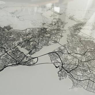 Detailansicht Acrylglas Stadtplan Stil Elegant